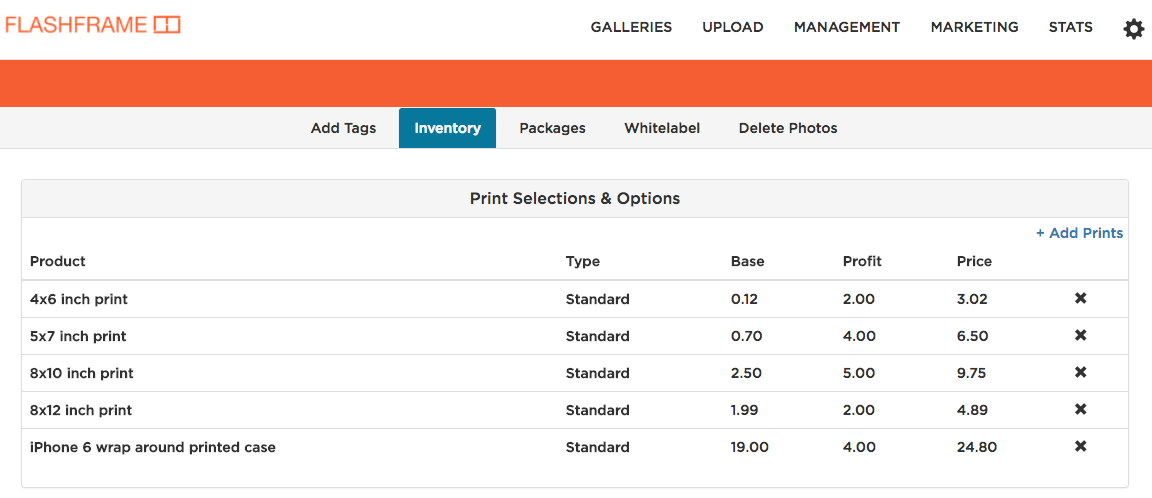 FlashFrame Inventory